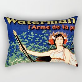 Waterman fountain pens 1919 Rectangular Pillow