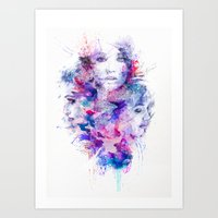 water colour Art Prints featuring Water Colour by Ben Fearnley