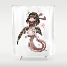 Axolotl Barbare Shower Curtain