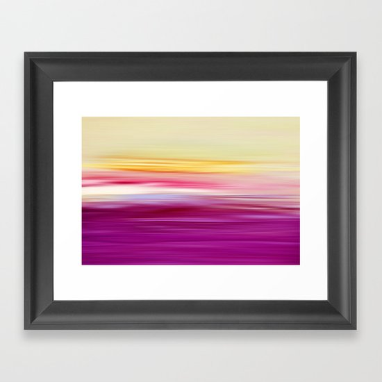 abstract sundown Framed Art Print
