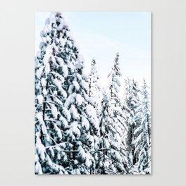 Snow Covered Trees, Winter Wonderland Decor Canvas Print