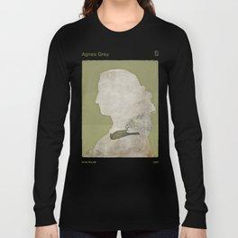 Anne Brontë Agnes Grey - Minimalist literary design Long Sleeve T-shirt