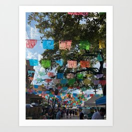 Texas Fiesta Shopping Art Print