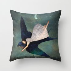 fly me to paris Throw Pillow