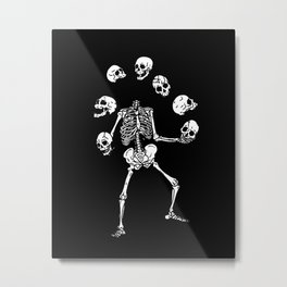 Circus of Skeleton Metal Print