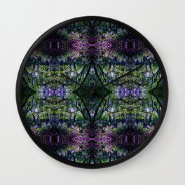 Pleasure of the Pathless Woods collage Wall Clock