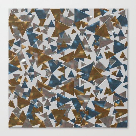 Triangle Explosion Canvas Print