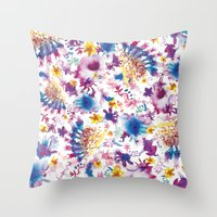marine Throw Pillows featuring MARINE by BluePurple