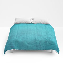 blue wall vintage  background,  stone texture, retro style Comforters