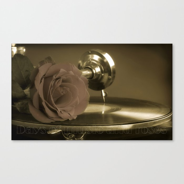 Music and roses. Canvas Print