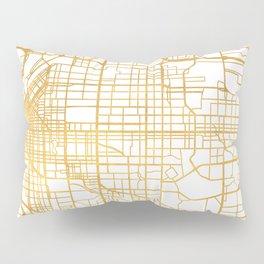DENVER COLORADO CITY STREET MAP ART Pillow Sham