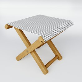 Black and White Grid Graph Folding Stool