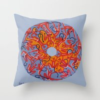 hell Throw Pillows featuring Hell by Sandyshow