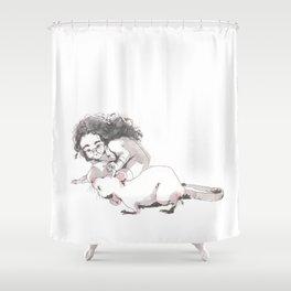 The scientist Shower Curtain