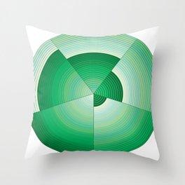 36 Green tones Throw Pillow