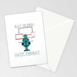 Hacker - Eat sleep hack repeate Stationery Cards