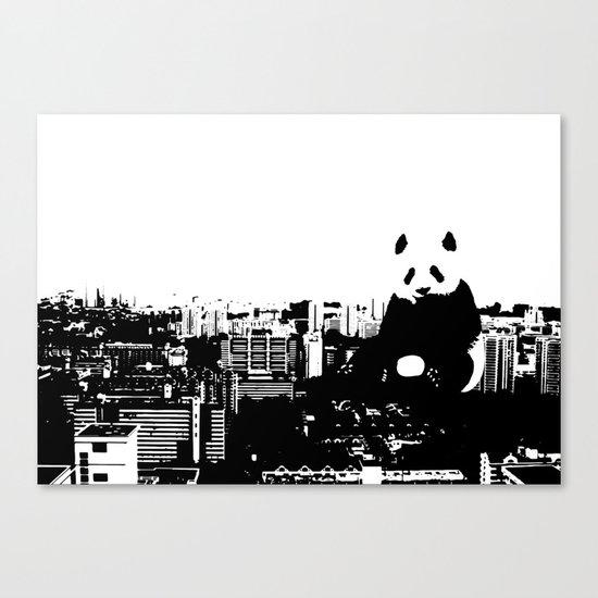 Giant Panda Invades Toa Payoh. Canvas Print