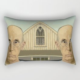 Gay American Gothic - LGBT Marriage Equality Rectangular Pillow