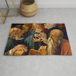 """Albrecht Dürer """"Jesus among the Doctors"""" Rug"""