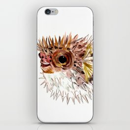 Little cute Fish, Puffer fish, cut fish art, coral aquarium fish iPhone Skin