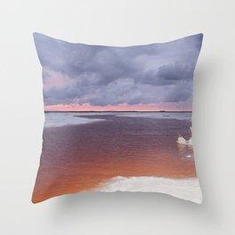 Salt Lakes Throw Pillow