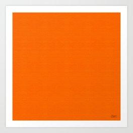 """Porstroke Orange (Pattern)"" Art Print"