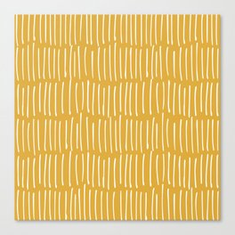 Yellow Abstract Line Art Canvas Print