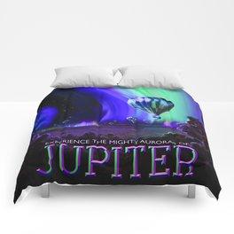 NASA Jupiter Planet Retro Poster Futuristic Best Quality Comforters