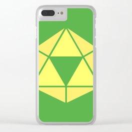 Zelda - Triforce D20 Clear iPhone Case