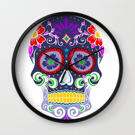 Candy Skull Wall Clock
