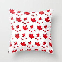 Canada Maple Leaf-Large-White Throw Pillow