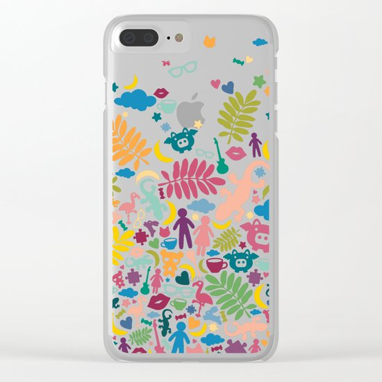 Colorful Paradise Clear iPhone Case
