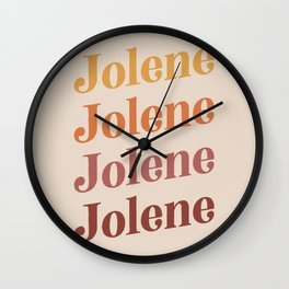 Jolene - Dolly Song - Earthy Boho Colors Wall Clock