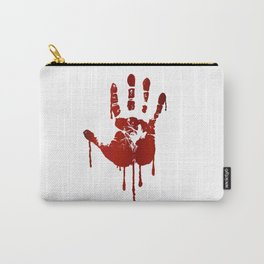 Bloody halloween hand Carry-All Pouch