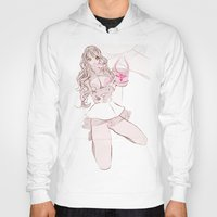 champagne Hoodies featuring CAPRI CHAMPAGNE by Chandelina