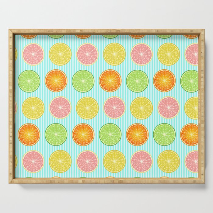 Citrus Collage Serving Tray