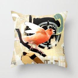 COLLAGE: Tweet Throw Pillow