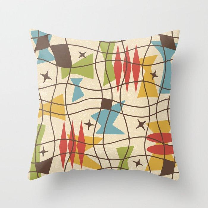 Mid Century Modern Abstract Pattern 571 Throw Pillow