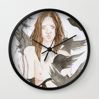 coraline Wall Clocks featuring Coraline by katimarco