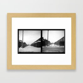 Snow x 2 Framed Art Print