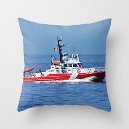 Patrol Boat Throw Pillow