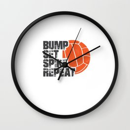 Bump Set Spike Repeat Wall Clock