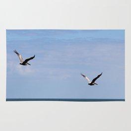 Pair of Pelicans Rug