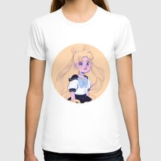 Sailor Moon White MEDIUM Womens Fitted Tee