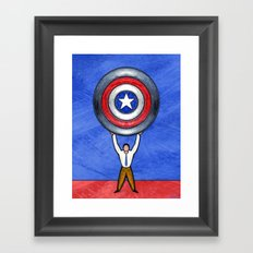 BLUE STATE Framed Art Print