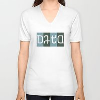 data V-neck T-shirts featuring data by rwpstudio