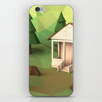 cabin iPhone & iPod Skins featuring Cabin by CharismArt