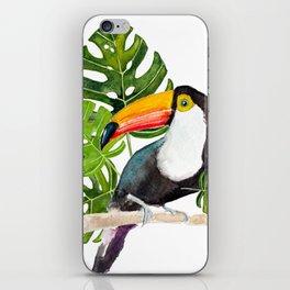 Watercolor toucan iPhone Skin