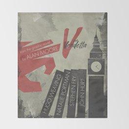 V fo r vendetta, minimal movie poster, Natalie Portman, Stephen Fry, film based on the graphic n Throw Blanket