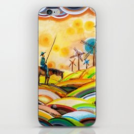 Don Quixote de La Mancha and Sancho Panza iPhone Skin